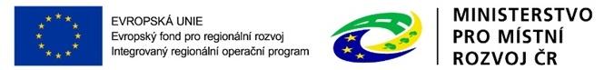 EU Evropský fond pro regionální rozvoj|Ministerstvo pro místní rozvoj ČR