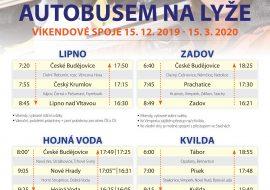 Jízdní řád České Budějovice – Lipno nad Vltavou